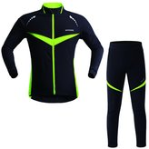 CS Cycling Winter Outdoor Sports Cycling Mountaining Sets Fleece Thermal Warm Windbreaker Suits WPF317 S