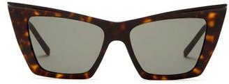 Saint Laurent Pointed Cat-eye Acetate Sunglasses - Tortoiseshell