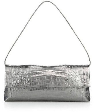 Nancy Gonzalez Gotham Metallic Crocodile Clutch