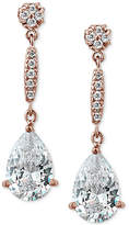 Giani Bernini Cubic Zirconia Drop Earrings in Rose Gold-Plated Sterling Silver, Created for Macy's