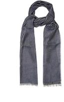 Lanvin Checked linen-blend scarf