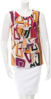M Missoni Printed Silk Top