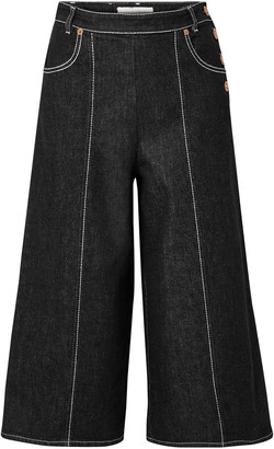 See by Chloe Button-detailed Denim Culottes