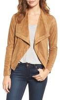 BB Dakota Women's Nanette Faux Suede Drape Front Jacket