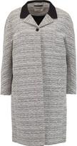 Carven Two-tone bouclé coat