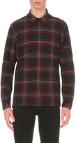 The Kooples Classic-fit checked wool-blend shirt