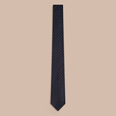 Burberry Modern Cut Polka Dot Silk Tie