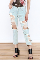 Polly & Esther Destroyed Boyfriend Jeans
