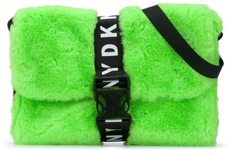 DKNY Faux-Fur Buckled Shoulder Bag