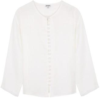 Gimaguas Bianca white cotton-gauze blouse