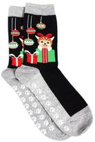 Hot Sox Women's Cat And Present Socks