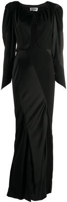 Lanvin bi-material slit heart evening dress
