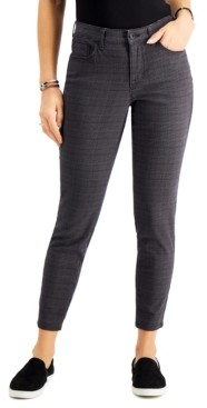 Style&Co. Style & Co Plaid Curvy Skinny Jeans, Created for Macy's