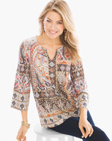 Chico's Framed Patchwork Tunic