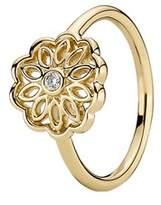 Pandora Golden Radiance 14k Diamond Ring.