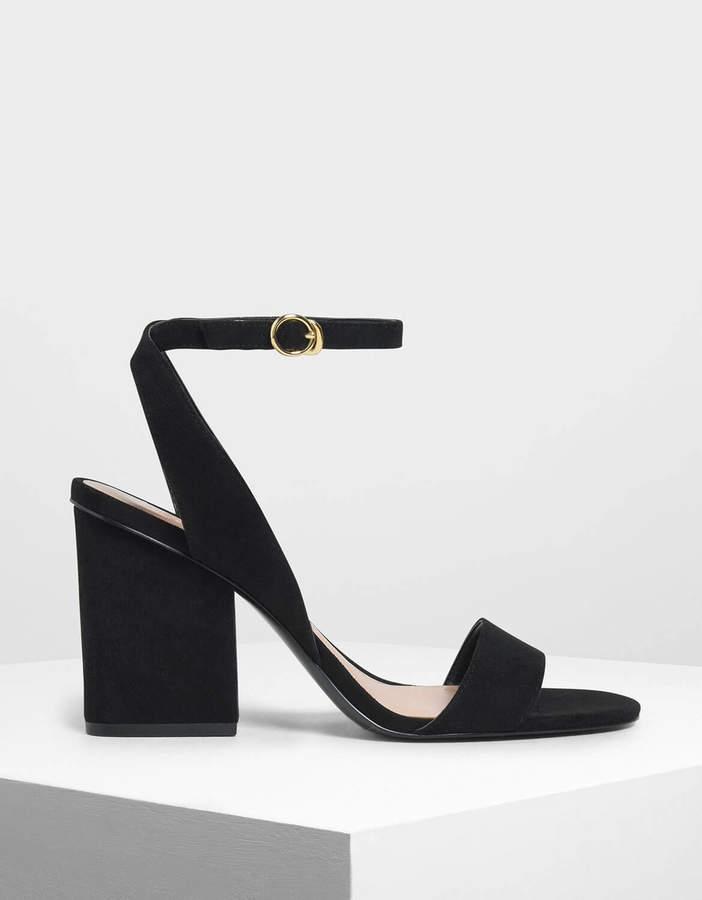 Charles & Keith Ankle Strap Block Heel Sandals