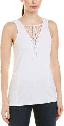 Heather Lace-Up Tank