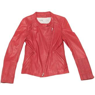 Drykorn Red Leather Jackets