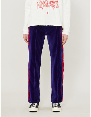 Paradoxe Striped velvet jogging bottoms