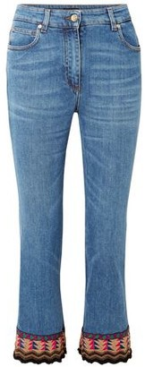 Etro Embellished High-rise Kick-flare Jeans