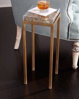 Tommy Mitchell Lucite Top with Floral Side Table