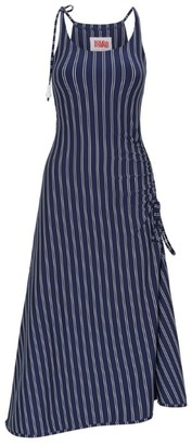 Solid & Striped Pinstripe Midi Dress