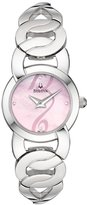 Bulova Women's Bracelet Pink Mother of Pearl 96L120 Silver Stainless-Steel Quartz Watch with Pink Dial