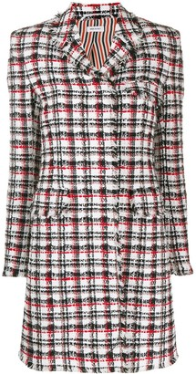 Thom Browne Checked Tweed Overcoat