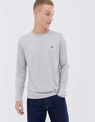 Lacoste logo long sleeve t-shirt in grey