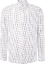 Peter Werth Morse Geometric Printed Cotton Shirt