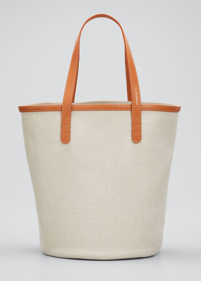 Mansur Gavriel Mini Italian Canvas Circle Bucket Bag