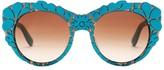 Dolce & Gabbana Women's DNA Oversized Acetate Frame Sunglasses