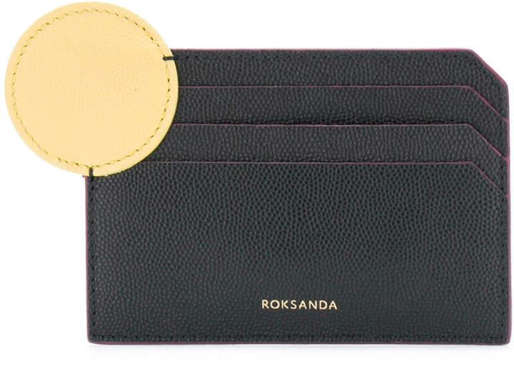 Roksanda geometric detail card holder