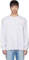 Alexander Wang Grey Chynatown Long Sleeve Sweatshirt