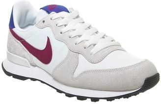 Nike Internationalist Trainers Summit White Noble Red Hyper Blue F
