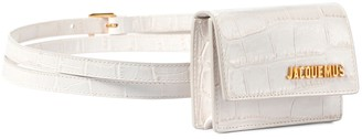 Jacquemus La Ceinture Bello croc-effect leather belt bag