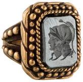 Stephen Dweck Hematite Intaglio Ring