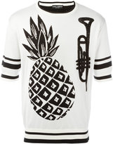 Dolce & Gabbana pineapple intarsia knit top - men - Silk - 50