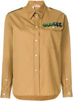 No.21 embellished pocket shirt