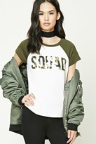 Forever 21 FOREVER 21+ Metallic Squad Graphic Tee