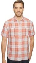 Tommy Bahama Caldera Plaid Camp Shirt Men's Short Sleeve Button Up