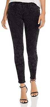 Frame Le Skinny De Jeanne Snake Print Jeans in Tonal Python