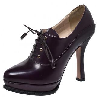 Prada Purple Leather Boots