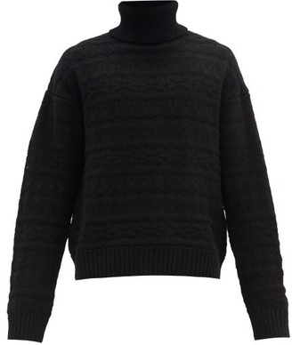 TAKAHIROMIYASHITA TheSoloist. Roll-neck Fair Isle-knitted Wool Sweater - Black