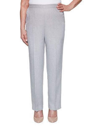 Alfred Dunner Women's Petite Textured Proportioned Short Pant