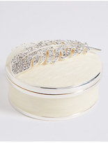 M&S Collection Feather Resin Trinket Box
