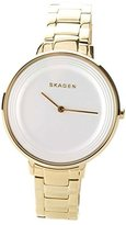 Skagen Women's Quartz Watch with White Dial Analogue Display and Stainless steel golden - SKW2330