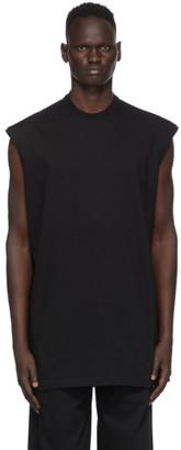 Rick Owens Black Tarp Sleeveless T-Shirt