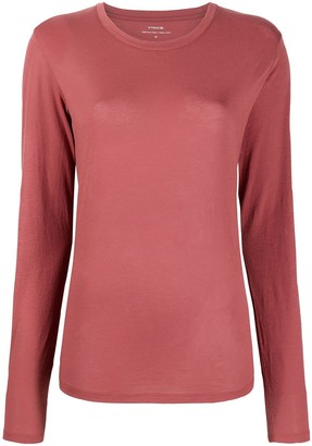 Vince Round Neck Long-Sleeved Top