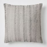 Pleated Pillow Cover - Platinum